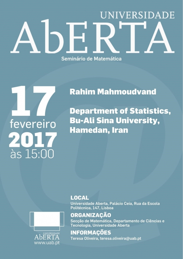 "Talk given by Dr. Rahim Mahmoudvand ""Missing Data Imputation in Time Series Using Singular Spectrum Analysis "", Aberta University, Portugal"